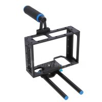 Koolertron DSLR Cage Rig Movie Kit With Top Handle 15mm Aluminum Rod Block Plate