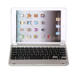 Koolertron Silver Bluetooth Keyboard With Magnetic Slot Tab Key for iPad Mini