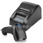 Koolertron USB 58mm POS Thermal Receipt Printer Auto Barcode Scanner Combo