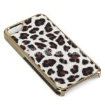 Koolertron Deluxe Leopard Grain Style Clip On Hard Back Case Cover For New iPhone 5