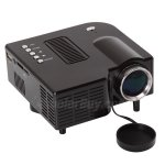Koolertron New Mini Portable 24W 400Lumen LED Projector—Black