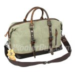 Koolertron Shoulder Bag Oversized Leather Canvas Casual Travel Tote Luggage Satchel Hobo Duffel Handbag