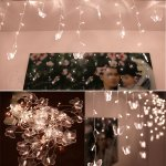 Fuloon 8M x 0.75M 192 pcs LED and 48 pcs Butterfly Indoor / Outdoor Party String Fairy Wedding Curtain Light 8 Modes
