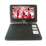 Koolertron 9 Inch Portable DVD Player with Analog TV USB Card Reader Radio Games Swivel LCD Black