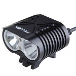 Pellor 4000 Lumens 2*CREE XM-L2 LED Bicycle Light With Spotlight And Astigmatism Function