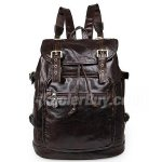 "Koolertron Vintage Men's Genuine Leather Backpack Hiking Travel Camping Bag Fit 15"" Laptop"