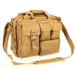 "Pro-Multifunction Men's Military Tactical Outdoor Nylon Shoulder Messenger Bag Handbags Briefcase Large Enough for 15"" Laptop / Sony / Canon / Nikon / Olympus / iPad(Khaki)"