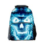 Koolertron Boys Girls Unisex's Vivid 3D Animals Print Daypack of Skull Crossbone Personalized Backpack School Bag with Environmental Felt Fabric and Polyester Material