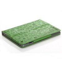 Koolertron Green New Perfect Lovely PU Leather Case Cover For Apple iPad2/iPad3/iPad4