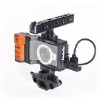 Koolertron DSLR Rig with Top Handle Handgrip Video System Cage for BlackMagic Pocket Camera