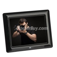 Koolertron 8 Inch LCD Widescreen(4:3) Digital Photo Frame 800*600 Resolution Black