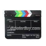 Koolertron Acrylic Plastic Dry Erase Director Film Clapboard(9.85x11.8 inch) with Color Sticks