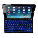 Koolertron New LED Colorful Backlit light Illuminated Aluminium Folio Wireless Automatic Connecting Bluetooth Keyboard Case Cover for Apple iPad Air / iPad 5