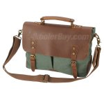 Koolertron Vintage Canvas Leather School College Messenger Briefcase / Satchel Handbag 5 Colors