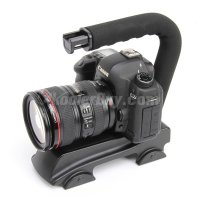 Koolertron C Shape Video Stabilizer Handle Mount Grip For DV Camcorder DSLR Camera Canon Panasonic