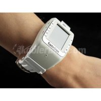 Koolertron White 1.3 Inch Bluetooth Quad Band Watch Mobile Cell Phone With 4GB TF Card