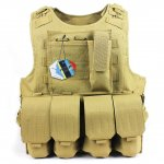 Hunting Tactical Molle Tactical Assault Plate Carrier Vest With Customizable Modular Pouches -mud color