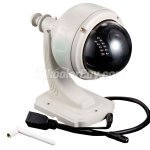 英文描述 IR Cut Pan/Tilt Wireless Wifi Outdoor Waterproof Dome Security Network IP Camera 22 IR LED Night Vision 300k Pixels