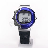 Pellor Blue Waterproof Pulse Fitness Heart Rate Calorie Burn Unisex Sports Wrist Watch NEW