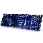Koolertron Cooling LED Illuminated Backlight USB Wired Gaming PC Keyboard with Purple Red Blue Cool backlit color,Spill-Resistant and Multimedia Design