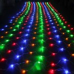 Fuloon 1.5M x 1.5M 144 pcs LED Net Light Indoor / Outdoor Party String Fairy Wedding Curtain Light 8 Modes for Choice 220V
