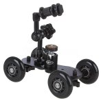 "Koolertron New 7"" Adjustable Friction Articulating Magic Arm + Mini Desktop Camera Rail Car Table Dolly Car Video Slider"