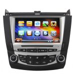 Koolertron 8 Inch Digital HD Touchscreen DVD GPS Navigation System with iPod BT Control for 7th 2003-07 Honda Accord Single Zone