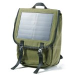 "Koolertron Solar Power 36 Litres Canvas Sports Bag 15"" Laptop Backpack with 6.5W Waterproof Solar Powered Panel Charging for iPhone/iPad/SAMSUNG/Gopro Cameras/Tablets and Other 5V Device"