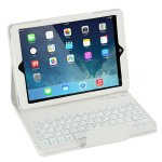 Koolertron Detachable Bluetooth ABS Keyboard PU Leather Protective Case + Dustproof Plug + Stylus Pen For Apple iPad Air(4 Colors)