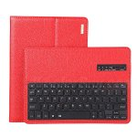 Koolertron Wireless Bluetooth Keyboard Case Cover for Apple iPad 6 / iPad Air 2 Tablet Ultra-Slim Smart Shell Portfolio Leather Case Stand with Magnetically Detachable
