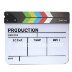 Koolertron Acrylic Plastic Dry Erase Director film clapboard (9.85x11.8 inch) with White/Black sticks