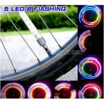 Pellor New 5LEDs 7modes Blue Cycling Bike Motor Car Tire Spoke Valve Wheel Cap Alarm LED Neon Light Lamp
