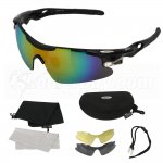 UV400 Cycling Outdoor Sports Glasses TR-90 Ultralight Frame Sunglasses Exchangeable 3 Lenses Unbreakable