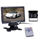 "Rupse 7"" LCD Monitor Wireless Car Rear View + CCD Reversing Camera Backup System"