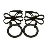 Pellor Skid Gymnastic Rings Gym Workout Exercise with Nylon Adjustable Straps