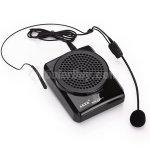 Koolertron AKER MR1505 Black High Quality Portable Pocket Voice Amplifier With Headset Microphone