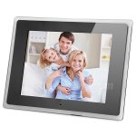 Koolertron New 12 Inch Digital 800x600 HD Photo Frame Support SD,USB2.0*USB1.1,MMC,MS with Backlight and Slide Show Fits Great Chritmas Gift(Black)