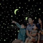 Fuloon Huge Set Of 285 Glow In The Dark Stars Wall Stickers