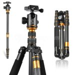 Carbon Fiber Tripod Monopod for DSLR Camera Portable Traveling Max Load 15KG