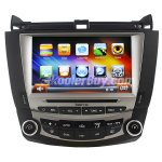 Koolertron 8 Inch Digital HD Touchscreen DVD GPS Navigation System with iPod BT Control for 7th 2003-07 Honda Accord