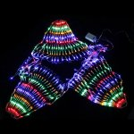 Fuloon 110V 220V 3M x0.8M 504 LED Colorful Indoor/Outdoor Net Peacock Web String Light Lamp For Christmas Wedding Party Festival Decoration