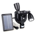 Fuloon Black Motion Sensor Solar Security Spot Light 38LED Dual Outdoor Flood Light