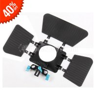 Koolertron Matte Box 15mm Rail Rod Support For DSLR Camera Canon Nikon Fuji Olympus Pentax SLR DSLR DC