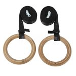 Pellor Upscale Professional Wooden Gymnastic Rings With Number And Buckles Straps