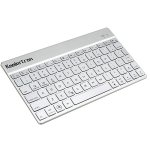 Koolertron Ultra-thin Aluminum Alloy 7 Colorful LED Backlit General Wireless Bluetooth Keyboard, Three-level Adjustable Keyboard Backlight