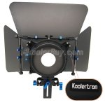 Koolertron Compact Pro Video Camera Matte Box For 15mm Rod Follow Focus Rig DV 4x4 Rotatable Filter