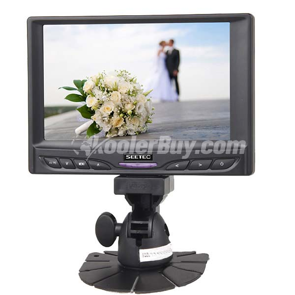 Koolertron 7 inch High Resolution Touchscreen Monitor With VGA Input For DSLR DV Car