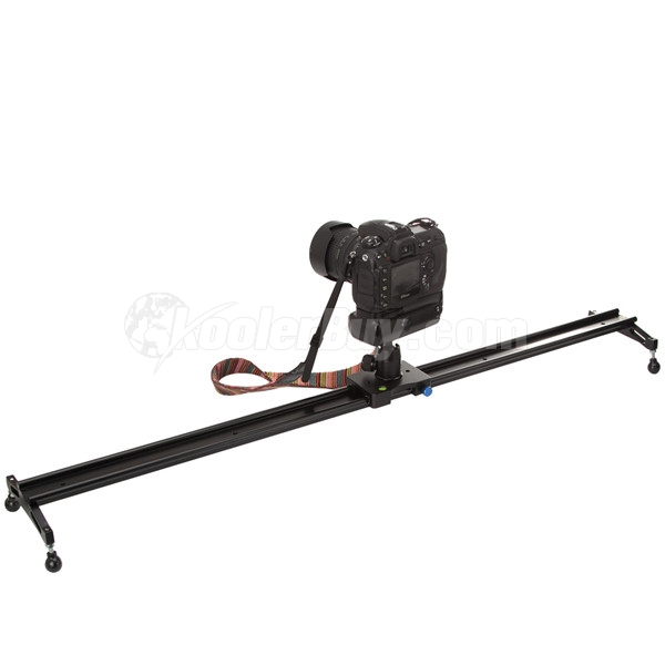 Koolertron Professional 120cm Video Camera Slider+Mini Ballhead Ball Head Applied In Video Shooting Rail Stabilization System