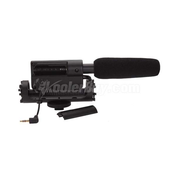 Koolertron Stereo Shotgun Microphone for Canon Nikon Pentax Olympus Panasonic DSLR Video Camera DV