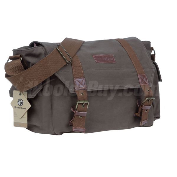 Koolertron F1001 Canvas DSLR Camera Shoulder Bag For Sony Canon Nikon Olympus